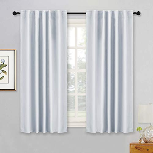 RYB HOME White Curtains for Bedroom, Room Darkening Drapes T