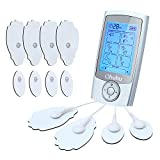Tens Unit Ohuhu Rechargeable 16 Modes and 12 Pads Electric Muscle Stimulator Machine, Pulse Impulse EMS Lower Back Pain Relief Therapy Massager Machine