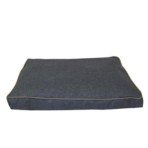 Carolina Pet Jamison Indoor/Outdoor Faux Gusset Bed for Pets, Blue/Tan, (Jamison Pet Bed)