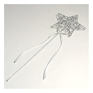 Silver Star,Wedding, Bridesmaid, Flower Girl, Fairy, Princess, Angel wand by Bridal by Exclusive