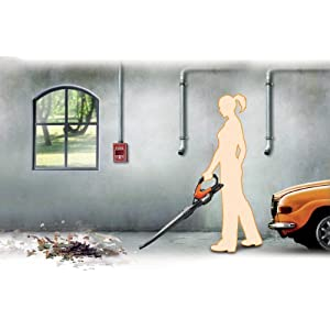 WORX 32V 2.0AH Battery + Charger Included AIR Multi-Purpose Blower/Sweeper/Cleaner with 120 MPH / 80 CFM Output, 4 lb. Weight, with 8 Attachments – WG575.1