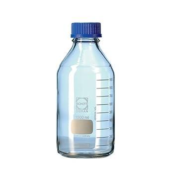 Duran 21 801 36 Laboratorio Botella con DIN rosca sin cierre y anillo de apertura,