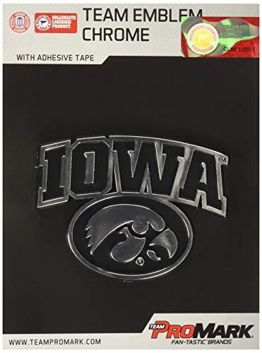 NCAA Iowa Hawkeyes Chrome Automobile Emblem