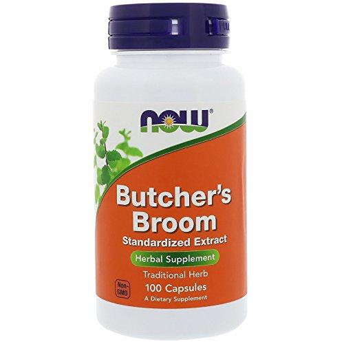 Broom Foods Butchers (NOW Butchers Broom 500mg, 100 Capsules (Pack of 3))