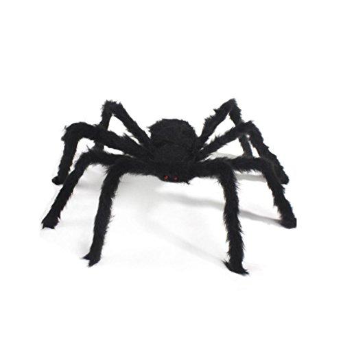 Halloween Spider, Misaky Party Decoration Haunted House Prop Indoor Outdoor (125CM, (Halloween Mummy Makeup)