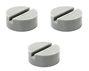 3 Pack Universal Small Slotted Polyurethane Jack Pad Frame Rail Protector