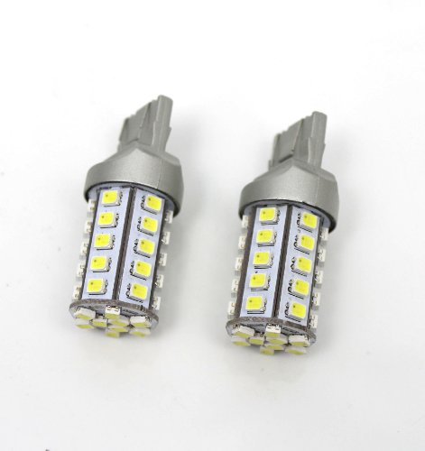 Gmc Yukon Parking Sign - 2pc T20 39-SMD Xenon White Amber Yellow Switchback LED Light Bulbs V2 Turn Sign Bulbs
