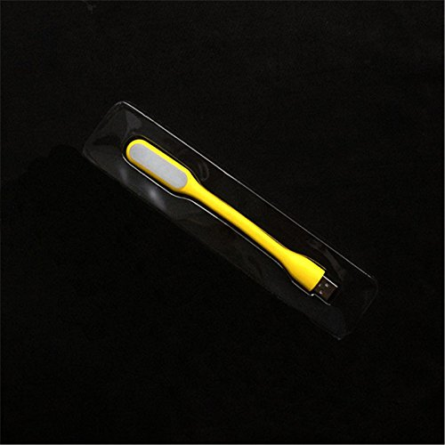 Blooming Mini USB LED Lamp Light Super Bright (1.2W) Portable Reading Work Bed Flexible Adjust Angle Adjustable Brightness Warm lamp Light for Laptop PC Notebook Desktop Power Bank (Yellow)