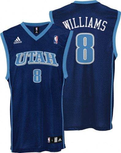 finest selection 4bf4c 0031d Amazon.com : Deron Williams Replica Jersey (Navy) - Utah ...