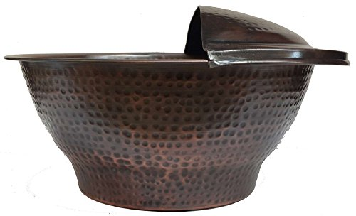 Egypt gift shops Deep Foot Wash Pedicure Spa Massage Antique Patina Hand Hammered Bowl by Egypt gift shops
