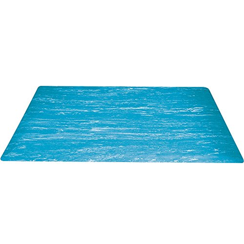 Box Partners Marble Sof-Tyle Grande Anti-Fatigue Mat, 3' X 10', Blue (MAT210BE)