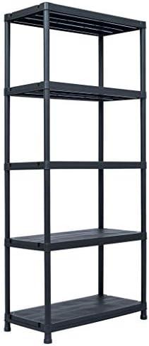 N/O Viel Spaß beim Einkaufen mit Lagerregal Schwarz 500 kg 90 x 60 x 180 cm Kunststoff