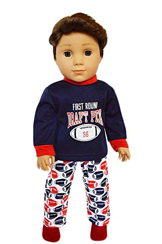 American Accessories Football (Brittany's My Football Pjs Fits American Girl Boy Dolls- 18 Inch Doll Clothes)