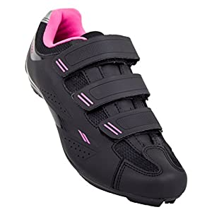 Tommaso Pista Women's Road Bike Cycling Spin Shoe Dual Cleat Compatibility - Black/Pink - 42