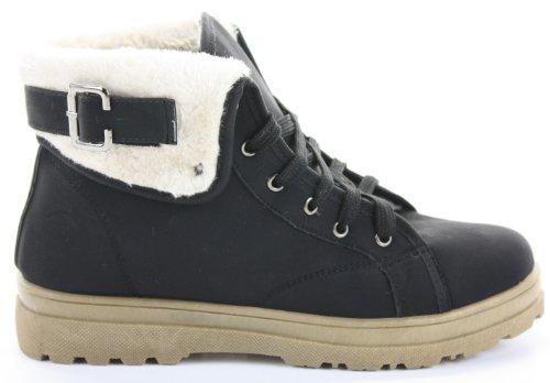 Ankle Motociclista Boots 35 Style Ecologica esercito Pelliccia 5 Unbekannt Piatto Donna nbsp; tTw5OnEq