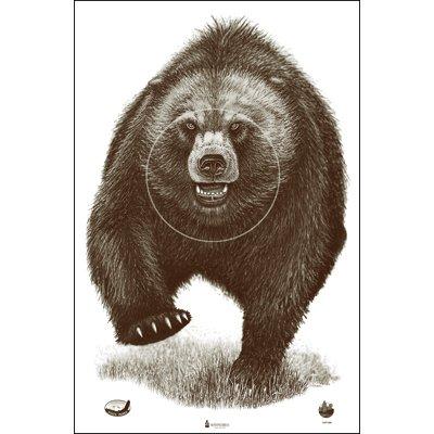 Alaska State Parks Bear Target, 100 Pack, Shooting Targets, Paper Targets (Bear Target)