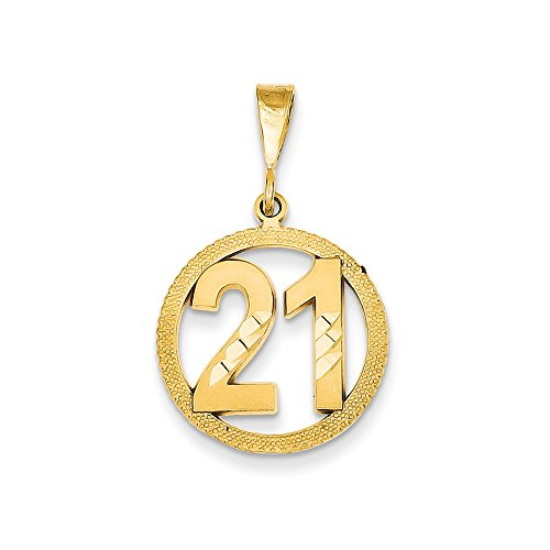 - Jewelry Pendants & Charms Themed Charms 14k #21 Circle Pendant