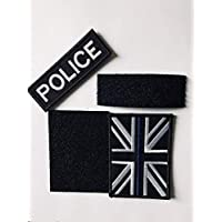 Dunne blauwe lijn Unie vlag patch met politie patch
