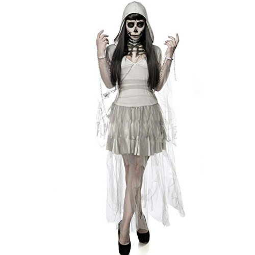 Ghost Ship Pirate Costume Ladies (light_hh Ladies Ghost Ship Pirate Treasure Halloween Bride Fancy Dress Costume)