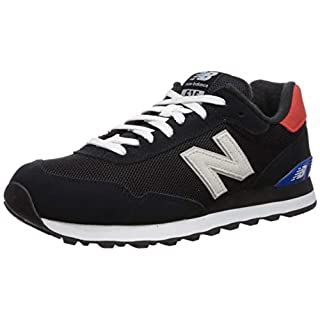 New Balance Men's 515 V1 Sneaker, Black/Energy Red, 18 XW US
