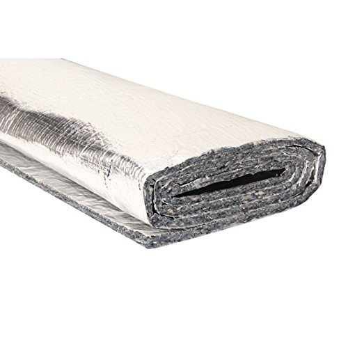 Aluminized Heat and Noise Insulation Shield, Double Sided, 4 x 6 Ft. Sheets (Best Insulation For Noise)