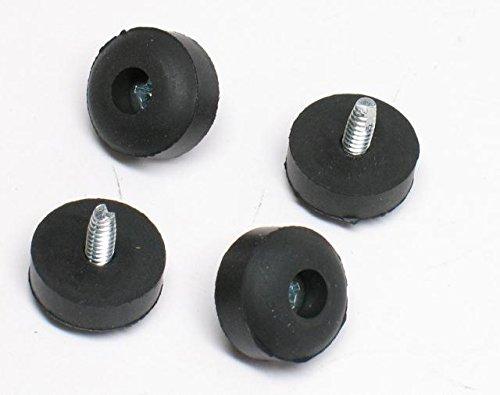 Dunlop ECB151 Rubber Feet with Screws, 4/Bag
