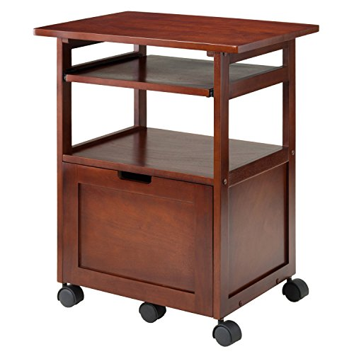 Winsome Wood 94427 Piper Home Office, Walnut (2 Drawer Office Printer Stand)