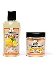 CLARK'S Cutting Board Oil & Wax (2 Bottle Set)   Includes CLARK'S Cutting Board Oil (12oz) & CLARK'S Finish Wax (6oz)   Orange & Lemon Scent