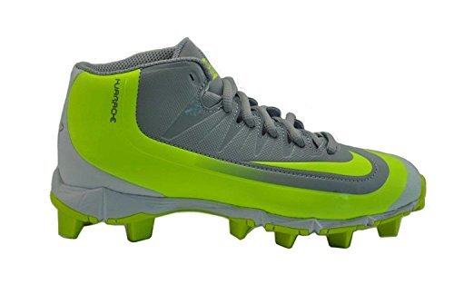 Nike Huarache 2KFilth Keystone Mid Mens Baseball Cleats Wolf Grey-Volt 10.5 US