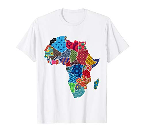 (African pride shirt - Ethnic map of Africa in fabrics)