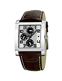 Festina Men's Multifunction F16235/2 Brown Leather Quartz Watch with Silver Dial