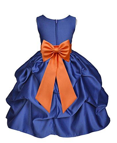 Buy blue and orange flower girl dresses - 3