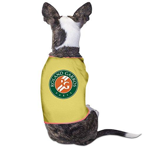 French Open Tennis Logo Puppy Pet Clothing Medium (Halloween Disco Text)
