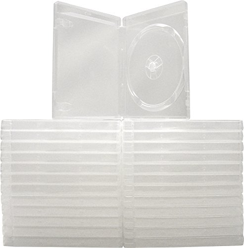 (25) Empty Standard CLEAR 14MM Replacement Boxes / Cases with out logo for Playstation 3 (PS3) Games #VGBR14PS3CL