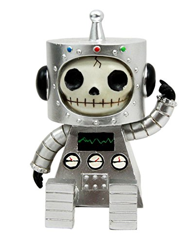 Larger Furrybones Space Robot ET Hooded Skeleton Monster Figurine Collectible Sculpture Decorative