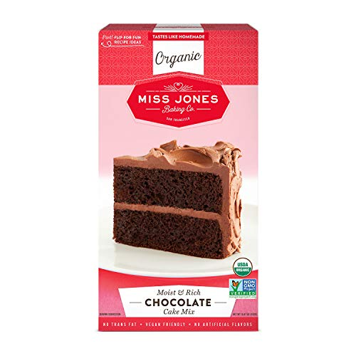 Miss Jones Baking Organic Cake Mix, Chocolate (Pack of 1)