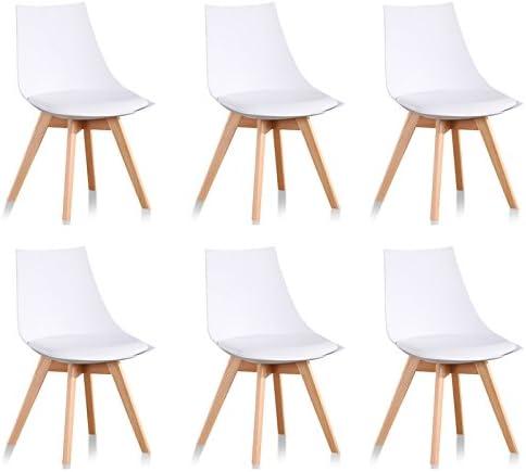 scandinaves chaises Lot Prague 6 Designetsamaison Blanches de Iv76gyfYb