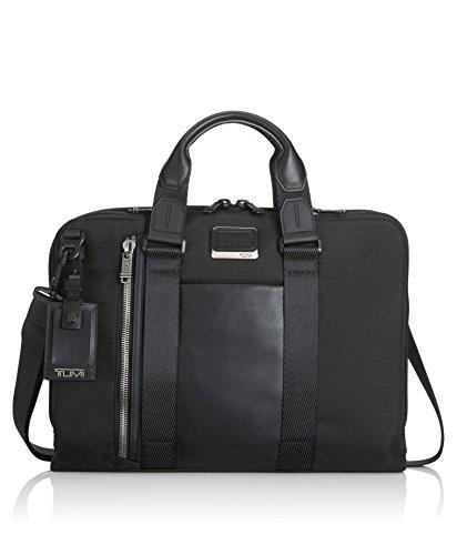Leather Zipped Entry (Tumi Men's Alpha Bravo Aviano Slim Brief Briefcase, Black 1041, One Size)