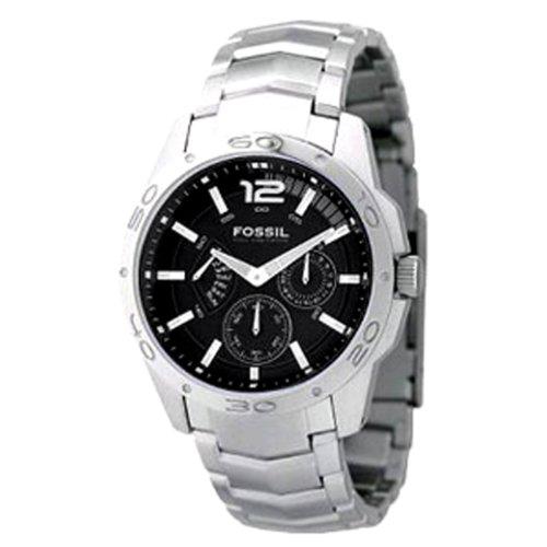 Fossil Men's BQ9347 Stainless Steel Bracelet Silver Analog Dial Multifunction Watch