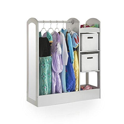 Guidecraft See and Store Dress Up Center Grey - Armoire, Dresser Kids' Furniture by Guidecraft