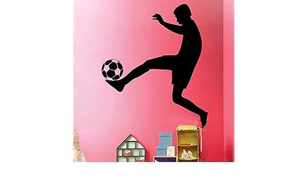 pegatinas decorativas pared Jugador de fútbol de fútbol, mujer ...