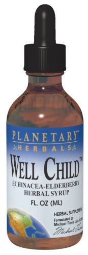 Herbal Syrup Echinacea (Planetary Formulas Well Child, Echinacea-Elderberry Syrup, 8 fl oz (236.56)