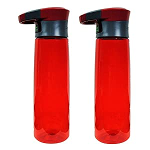Contigo 24oz Autoseal Madison Water Bottle, Red (2 Pack)