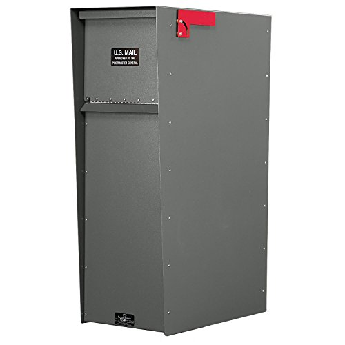Jayco LLA5RSUP Supreme Rear Access Aluminum Letter Locker Mailbox Gray