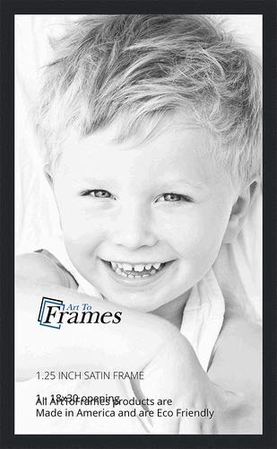 Arttoframes 18x30 Inch Satin Black Picture Frame 2womfrbw26079 18x30