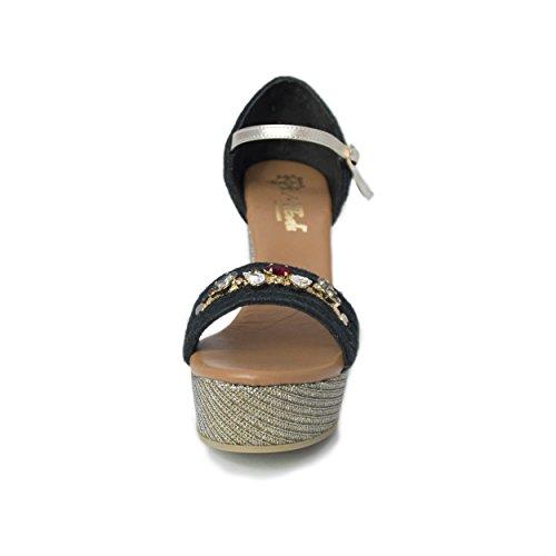 Mtbali Glam Noir Compensées Paris Femme Espadrilles Modèle Sandales qgW8rqRwU