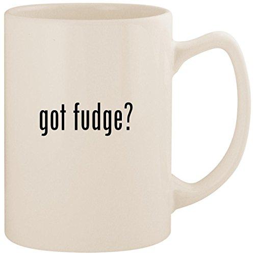 Sugar Free Chocolate Walnut - got fudge? - White 14oz Ceramic Statesman Coffee Mug Cup