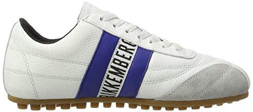 Bikkembergs Soccer 106, Sneaker a Collo Basso Unisex – Adulto, Bianco (White/Bluette), 36 EU