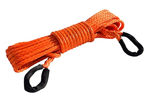 A-FUN 3//8 Synthetic Winch Rope Extension Length Customized for Winch 11000lb 10000 Recovery Rope Towing with Other 1//4 Option