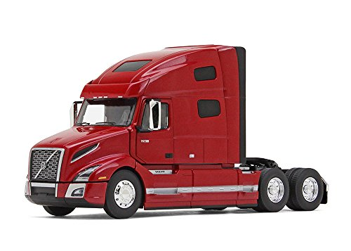 (First Gear 1/50 Scale Diecast Collectible Cherry Bomb Red Metallic Volvo VNL 760 Sleeper Cab Tractor (#50-3371) )